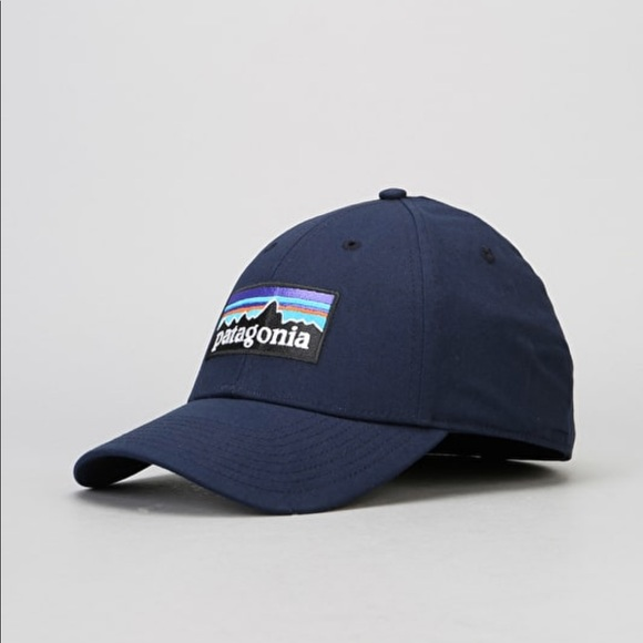 d40b54895271a PATAGONIA P-6 Logo Stretch Fit Cap - Navy Blue. M 5b96f9edc89e1d1d6302a512.  Other Accessories ...